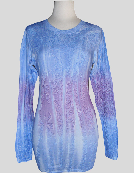 Women's Crew Neck Long Sleeve Handpainted Tee