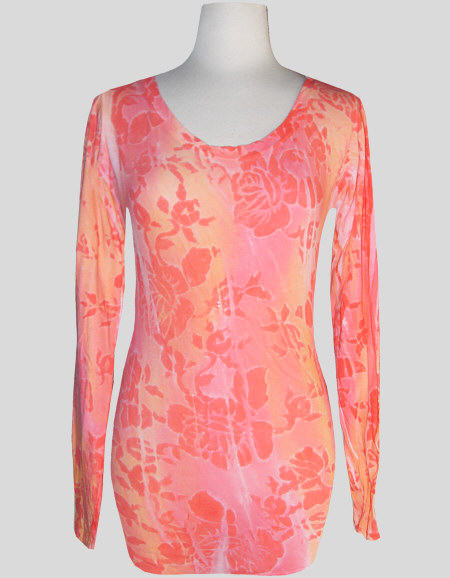 Women's Handpainted Long Sleeve Scoop Neck